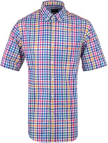 Paul & Shark Gingham Purple Short Sleeve Shirt