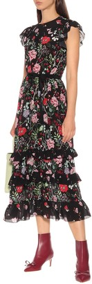 RED Valentino Floral silk maxi dress