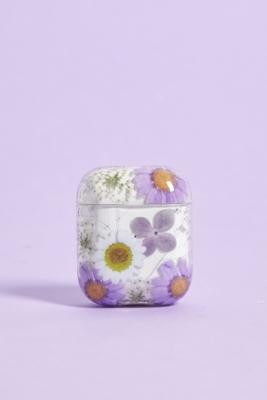 Urban Outfitters Lilac Pressed Flowers AirPods Case - Purple ALL at
