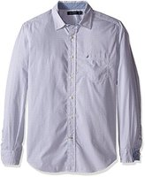 Nautica Men's Classic Fit Printed Poplin Shirt