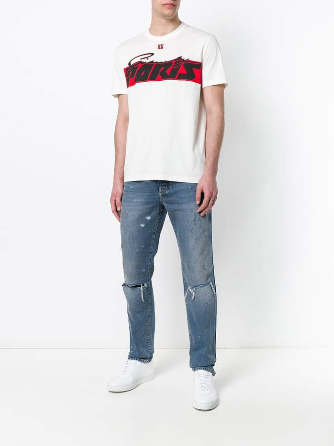 Givenchy Distressed ripped knee jeans