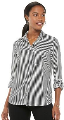 Apt. 9 Women's Long Sleeve Convertible Blouse