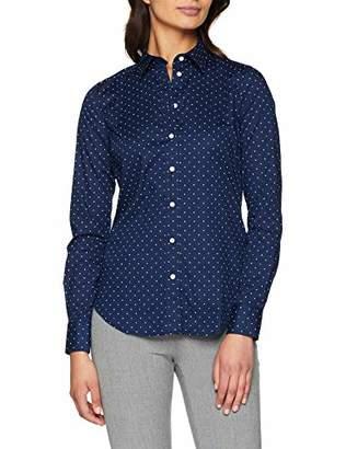 Gant Women's O1. Printed Dot Shirt (Persian Blue 423), 6