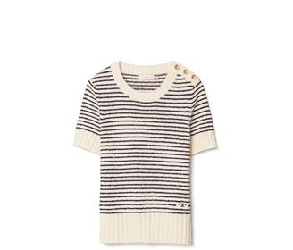 Tory Burch Boucle Stripe T-Shirt