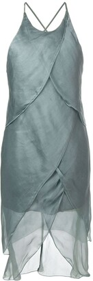 Giorgio Armani Pre Owned Asymmetric Draped Dress