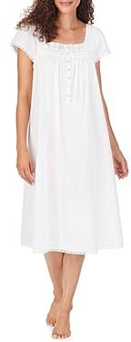 Eileen West Cotton Lace-Trim Waltz Nightgown