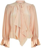 Chloé Tie Neck Silk Blouse