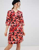 MBYM Dark Floral Wrap Dress