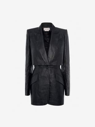 Alexander McQueen Trompe L'Oeil Linen Jacket