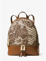 Michael Kors Paisley Reha Zip Medium Backpack