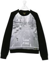 Finger In The Nose Lane Fire sweatshirt