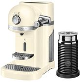 KitchenAid Nespresso Machine + Aeroccino, Almond Cream