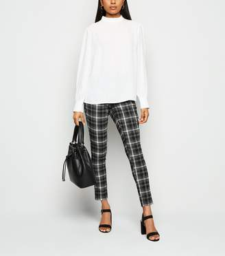 New Look Petite Check Slim Stretch Trousers
