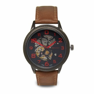 Elie Beaumont Skeleton Automatic Watch Brown