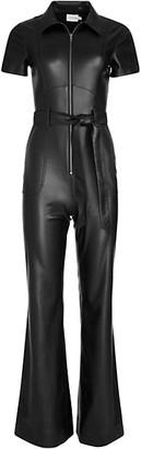 Alice + Olivia Jeans Gorgeous Vegan Leather Jumpsuit