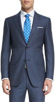 Canali Sienna Contemporary-Fit Birdseye-Stripe Two-Piece Suit, Gray