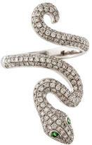 Anita Ko Pavé Snake Ring