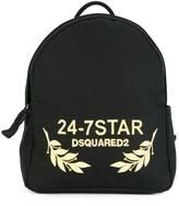 DSQUARED2 24-7 STAR logo backpack - men - Cotton/Calf Leather/Polyester - One Size