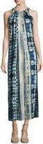 philosophy Tie-Shoulder Tie-Dye Long Dress, Multi