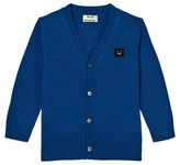 Acne Studios Teal Blue Mini Dasher Cardigan