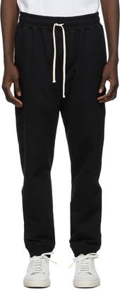 Bather Black Cotton Sweatpants