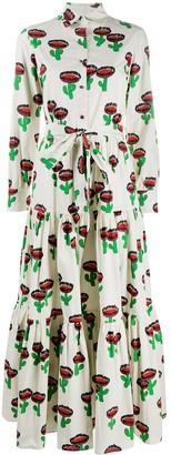 La DoubleJ Bellini cactus print shirt dress