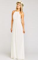 MUMU Amanda Maxi Dress ~ Wedding Cake Chiffon