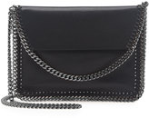 Stella McCartney Falabella Mini Flap Crossbody Bag, Black