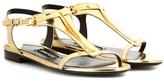 Tom Ford Embellished Metallic Leather Sandals