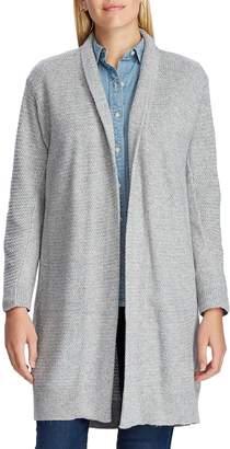 Chaps Open-Front Cotton-Blend Sweater