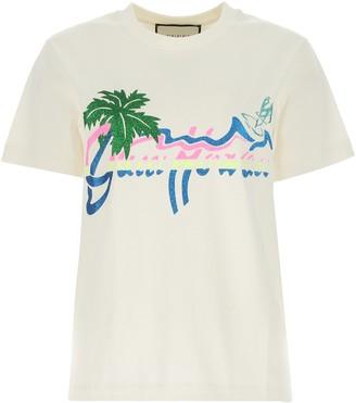 Gucci Hawaii Print T-Shirt