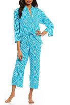 N by Natori Diamond-Print Challis Pajamas