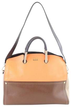 Furla Orange Leather Handbags