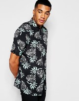 Huf Shirt With All Over Pineapple Print In Regular Fit