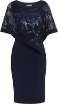 Gina Bacconi Evana Dress With Lace Cape