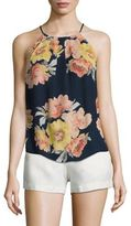 Joie Amarey Wildflower Silk Halter Top