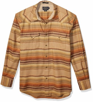 Pendleton Men's Long Sleeve Button Front Classic-fit Canyon Shirt