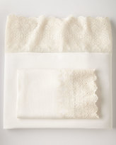 Pom Pom at Home King Annabelle Lace-Edged Flat Sheet