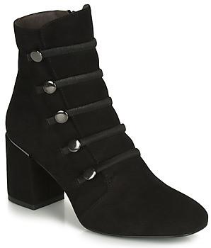 Perlato 11294-CAM-NOIR women's Low Ankle Boots in Black