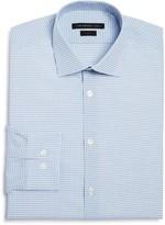 John Varvatos Small Gingham Check Stretch Slim Fit Dress Shirt