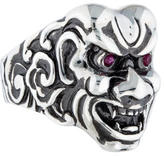 Stephen Webster Ruby Japanese Warrior Mask Ring