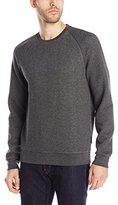 J. Lindeberg Men's Chad Herringbone Quilted Crew-Neck Sweatshirt