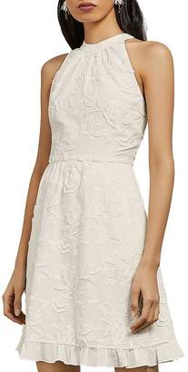 Ted Baker Lorene High-Neck Floral Embroidered Dress