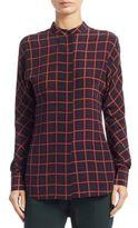 Theory Perfect Dolman Silk Button-Down Shirt