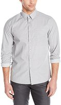 Kenneth Cole New York Men's Long Sleeve Printed Woven Shirt