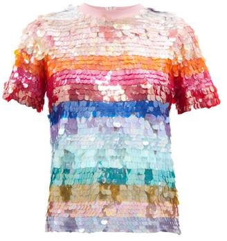 Ashish Sequin-striped T-shirt - Multi