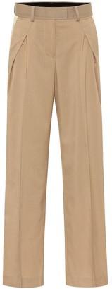 Sacai High-rise wide-leg pants