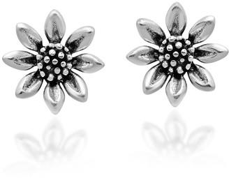 Aeravida Handmade Everyday Summer Jasmine Flower Sterling Silver Post Stud Earrings