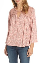 Lucky Brand Women's Floral Peasant Top