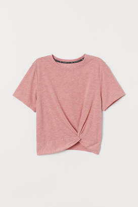 H&M Knot-detail sports top